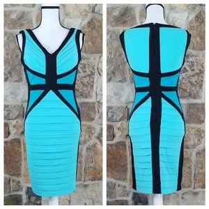 NWT Cache 2 Color Block Bodycon Dress